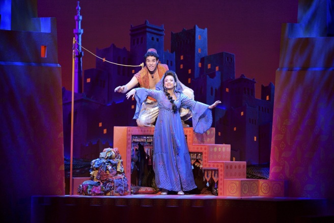 8 Adam Jacobs (Aladdin) & Isabelle McCalla (Jasmine). Photo by Deen van Meer